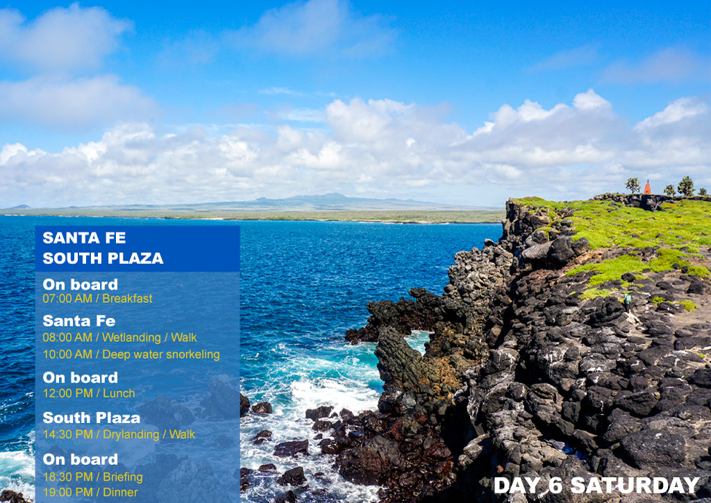 Nemo I Galapagos Cruises Itinerary B Sixth Day Saturday San Cristobal AM Pitt Point PM Brujo Hill
