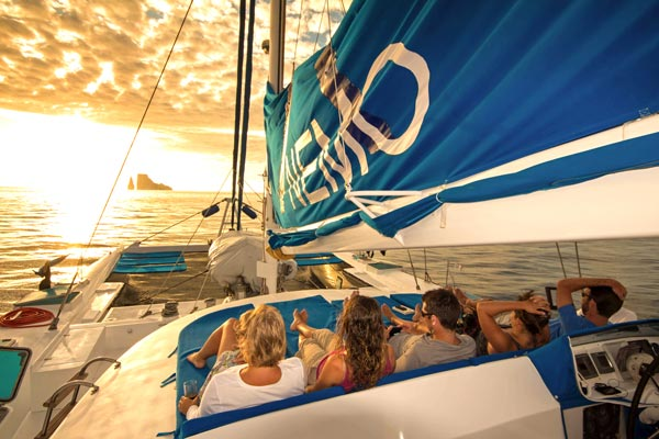 Sunset with friends aboard Nemo I