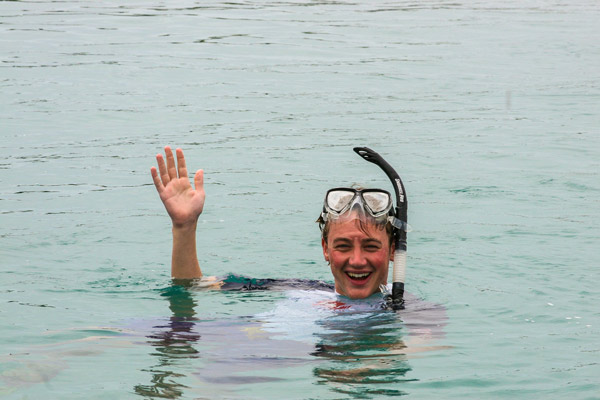 Enjoying Snorkel Galapagos Tours