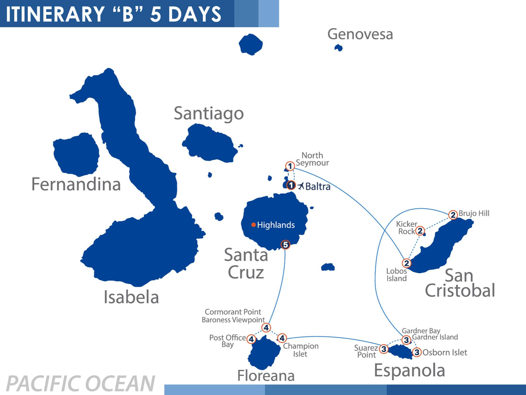 South Itinerary Nemo III Galapagos Cruise