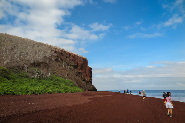 The red beach Galapagos Island